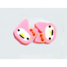 Серьги Розовые котики (f1299)