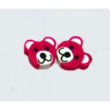 Серьги Малиновые мишки (f1299)