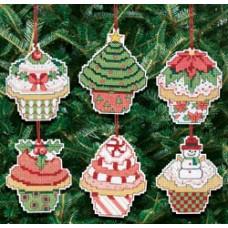 Рождественские пирожные (6 шт.) на елку (21-1390)