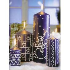 Контур для росписи свечей, белый (KR-49701)