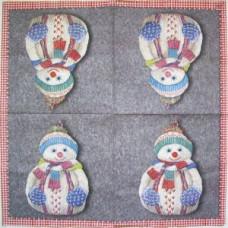 Салфетка Вязанный снеговик (1305)