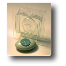 Форма для мыла 3D Овал-круг (2 части)