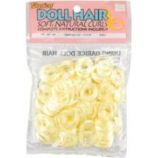 Волосы вьющиеся, белые с лимонным отливом (1211-05)