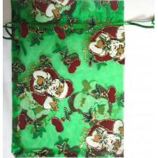 Подарочный мешочек парчовый Дед Мороз