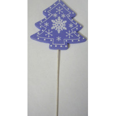 Декор на палочке для цветов Елочка сиреневая