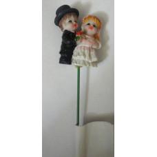 Декор на палочке для цветов керамический Свадьба-2