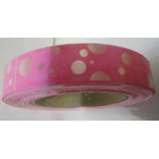 Декоративная лента Flora розовая, Горошки