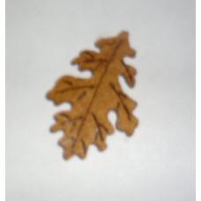 Осенний лист войлочный, коричневый