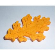 Осенний лист войлочный, светло-оранжевый