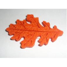 Осенний лист войлочный, ярко-оранжевый
