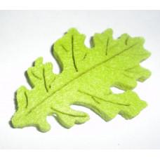 Осенний лист войлочный, ярко-зеленый
