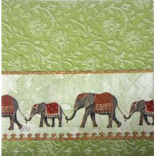 Салфетка Вереница индийских слонов (1310)