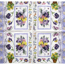 Салфетка Анютки - весенние цветы (маленькая)(1321)