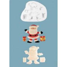 Молд силиконовый Санта Клаус и подарки (104)