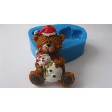 Молд силиконовый Новогодний медвежонок 1 (114)