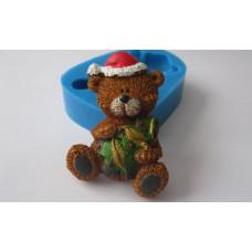 Молд силиконовый Новогодний медвежонок 2 (115)