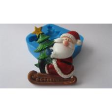 Молд силиконовый Санта с ёлкой (117)