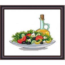 Набор для вышивания крестиком Сделано с любовью Греческий салат (ВИ-002)