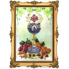 Набор для вышивания бисером Краса і творчість Пасхальная чаша 1 (10212)