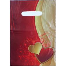 Пакет подарочный Два сердца