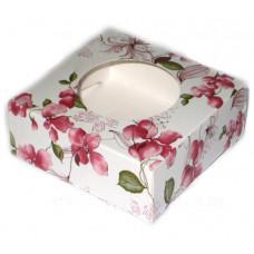Коробочка квадратная Розовая орхидея