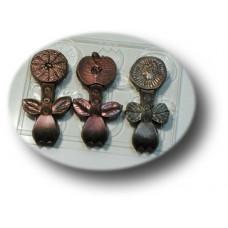 Форма для шоколада Шоко-вилки: киви, яблоко, апельсин (0018)