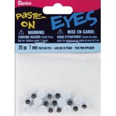 Глазки для игрушек, чёрные, 7 мм (ME7/PP)