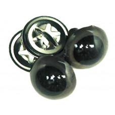 Глазки для игрушек, коричневые, со зрачком 24 мм (7520-24.19)