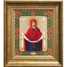 """Набор для вышивания бисером Чарівна мить Икона """"Покров Пресвятой Богородицы""""(Б-1128)"""