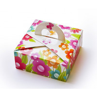 Коробка Ручка-сердечко Цветочная (М0004-о2)