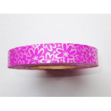Декоративная лента Flora ярко-розовая, Ромашки