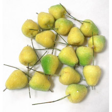 Декор Груша зеленовато-желтая в присыпке (на палочке)