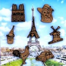 Декоративные пуговицы Франция, 7 шт.(03D)
