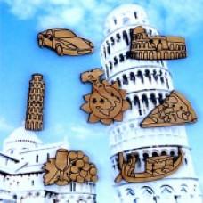 Декоративные пуговицы Италия, 7 шт.(05D)