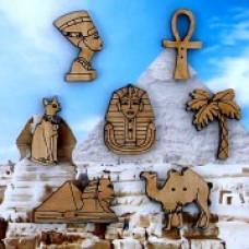 Декоративные пуговицы Египет, 7 шт.(08D)