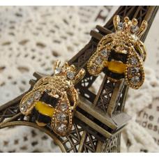 Серьги Искристые пчелки