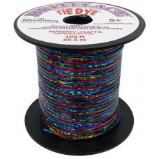 Виниловый шнур, 2,4мм, Tye-Dye Clear Blue (PEPRBS.5010)