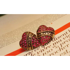 Серьги Любящие сердца