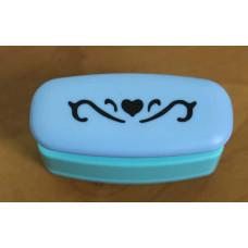 Бордюрный мини-дырокол Сердце с орнаментом