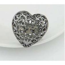Кольцо Ажурное сердце