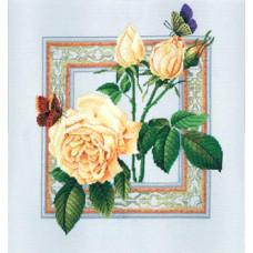 Розы и бабочки (R170)