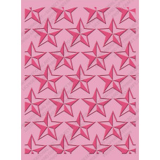 Папка для тиснения Cuttlebug A2 Embossing Folder, Stars (37-1911)