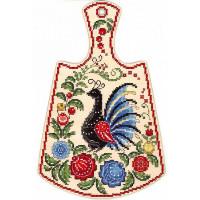 Набор для вышивания крестом М.П.Cтудия Расписной павлин (О-008)