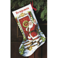 Рождественский сапожок Добро пожаловать, Санта (70-08901)