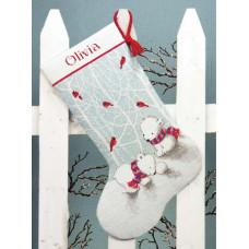 Рождественский сапожок Снежные мишки (70-08902)