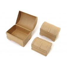 Набор коробок из папье маше,  Сундучок (CPLS1370)