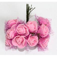 Розы розовые в декоре (Б-03)