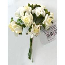 Розы белые с лимонной серединкой (317244)