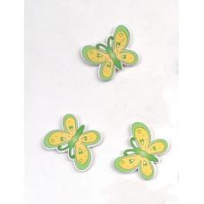 Объемное украшение Бабочка желто-зеленая