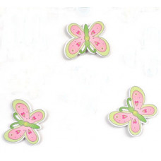 Объемное украшение Бабочка розово-салатовая